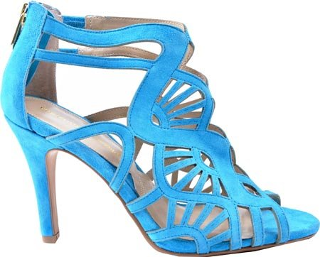 ADRIENNE VITTADINI Footwear Womens gaven Dress Sandal Aqua Kid Suede SbCuV1ab7