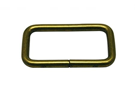 "925947256f72d Image Unavailable. Image not available for. Colour: Generic Metal Bronze  Rectangle Buckle 1.5"" X 0.75"" Inside Dimensions Loop Ring ..."