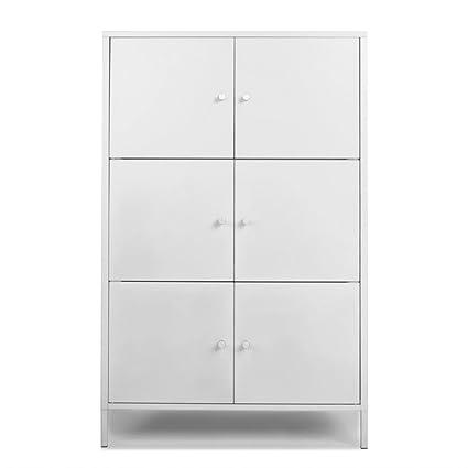 Armadi Metallici Per Spogliatoio.Ikayaa Armadietto Spogliatoio Armadio Ufficio Modern 6 Door Floor
