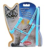 Product review for Diamond Pet Lead Leash Halter Harness Kitten Nylon Strap Belt Safety Rope Adjustable Cat Dog Collar/Soft and Easy To Walking (Sky blue)
