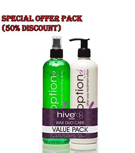 Hive Beauty Wax Duo Care Pack inc Pre Wax Spray & After Wax lotion by Hive