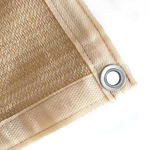 Patio Hanging Shade Panel All Sides with Grommets for Pond Cover,Pergola Cover,Patio Side Fence 10x10ft Beige