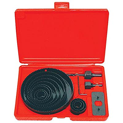 """Power Tools NEW HOLE SAW SET - 16 pc Hole Saw Kit- 3/4"""" - 5"""" inch - includes Case"""