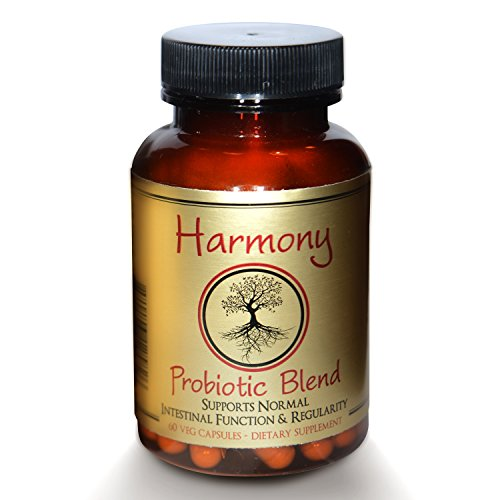 Harmony Probiotic Blend - Featured in WELLNESS MAGAZINE - for Women, Men, Kids - Best for Mood - Weight Loss - Digestion - Sleep. No Refrigeration. Non-GMO, Gluten-Free, Dairy-Free, Soy-Free, Kosher. by Genesis Evo