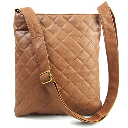 Tan Body Soft Over Lightweight For Leather Ladies Handbags Strap London Quilted Long Xardi Medium Bag Adjustable with Women Cross Black Faux Tan Beige Shoulder qZwgfv8x