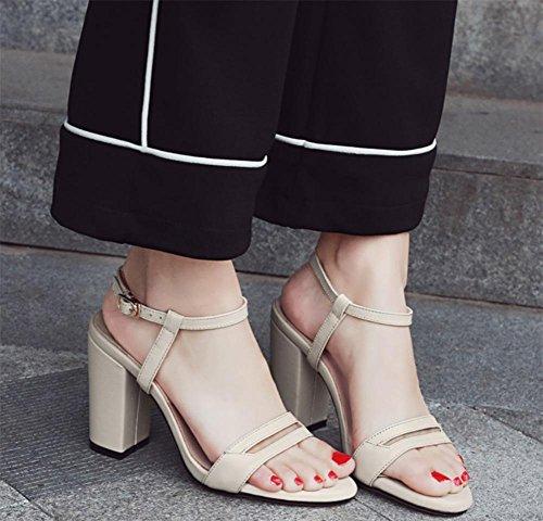 Dick mit Sandalen weiblichen Sommer Sandalen und Pantoffeln meters white ...