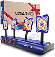 UWANTME Electronic Shooting Target Scoring Auto Reset Digital Targets for Nerf Guns Toys, Ideal Gift Toy for K