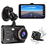 Dash Cam Bnoia 4.0 Inch Dual Car Dashboard Camera Touch Screen 1080P FHD Video Recorder and Rear View Backup 170 degree Wide Angle with G-Sensor Parking Monitor HDR Loop Recording Night Vision