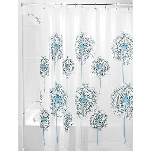 InterDesign Allium Shower Curtain Black