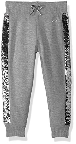 DKNY Little Girls' Casual Pant, Flip Sequin Light Heather, 4 by DKNY