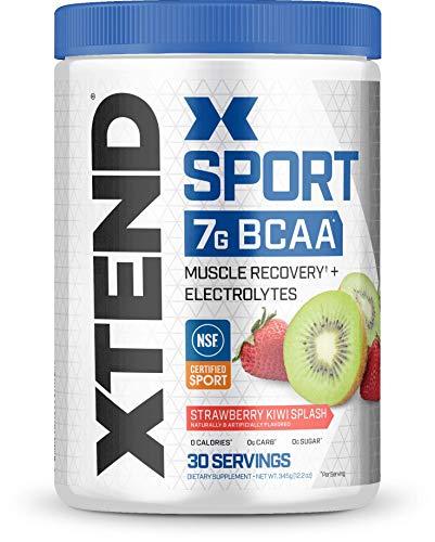 Bcaa Berry - Scivation Xtend Hydrasport BCAA Powder, Branched Chain Amino Acids, BCAAs, Zero Sugar Electrolyte Drink Powder + Hydration, Strawberry Kiwi, 30 Servings