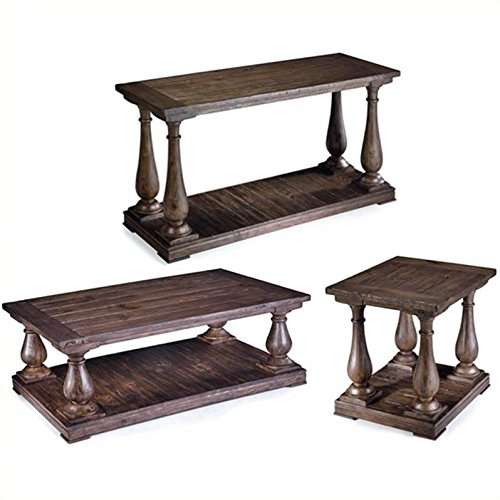 Magnussen Densbury 3 Piece Accent Table Set in Natural Pine ()