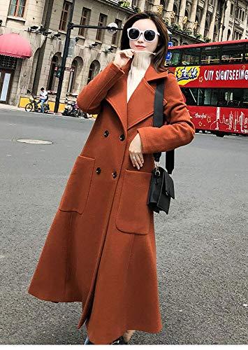 De A Hiver Femme Hepburn D'hiver Laine Manteau Wind Atr Long Forest qPvxww
