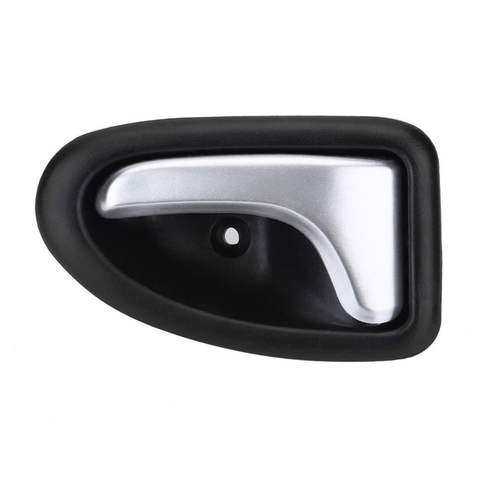 Ben-gi Interior del Coche del Lado Izquierdo ABS pl/ástico de la Puerta manija de Agarre reemplazo para Clio Accesorios del Coche