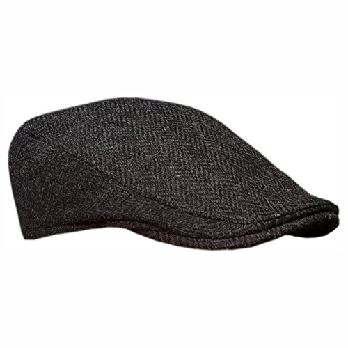 (Irish Ivy Cap, 100% Pure Irish Wool, Made in Ireland, Dark Gray, Medium)