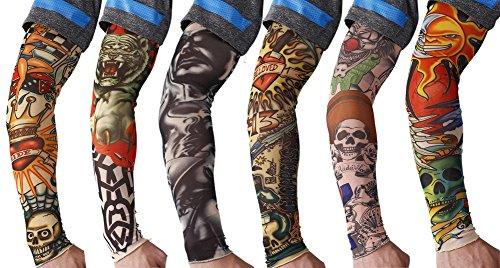 6pcs temporary tattoo sleeves body art arm stockings slip for Tattoo sleeves amazon