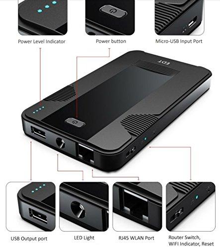 KuWFi V8 Smart Moblie power bank 3G Wireless WIFI Router