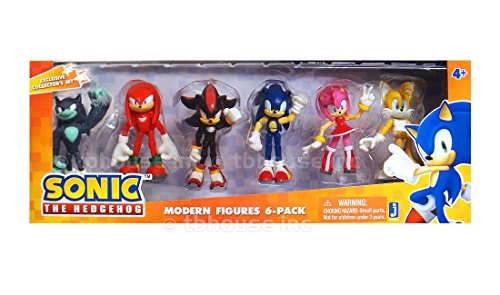 Sonic the Hedgehog Modern Exclusive Action Figure 6 Pack Tai