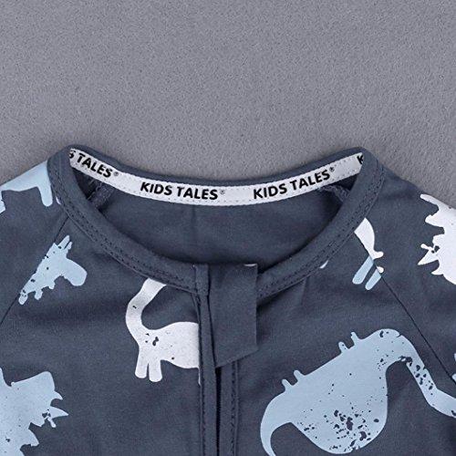 G-real Toddler Baby Infant Boys Short Sleeve Cartoon Dinosaur Romper Jumpsuit Zip Bodysuit for 6-24M