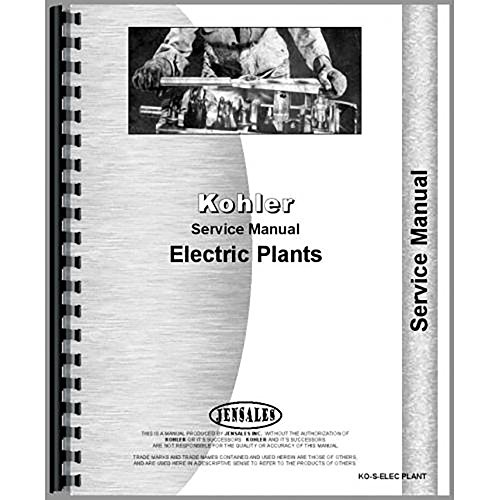 New Kohler Miscellaneous Electric Plant Service Manual