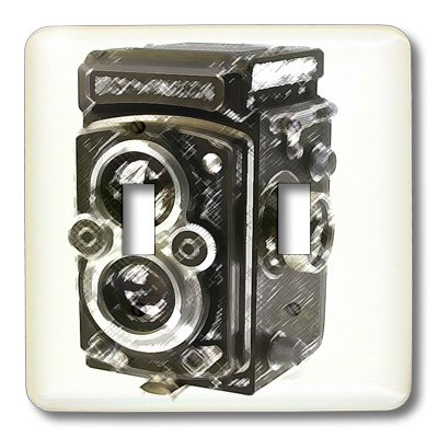 3dRose LLC lsp_20775_2 Picture Of A Vintage Twin Lens Reflex Tlr Camera Double Toggle Switch