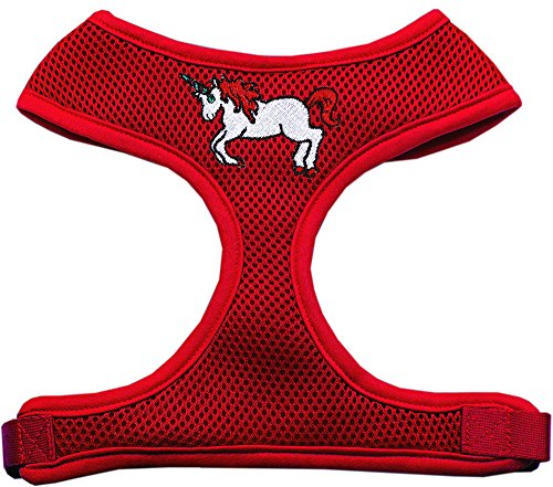 Mirage Pet Products Unicorn Embroidered Soft Mesh Harness Re