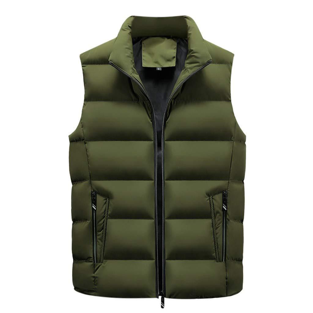 F_Gotal Mens blazer Men Packable Lightweight Down Vest Outdoor Puffer Vest Army Green by F_Gotal Mens blazer