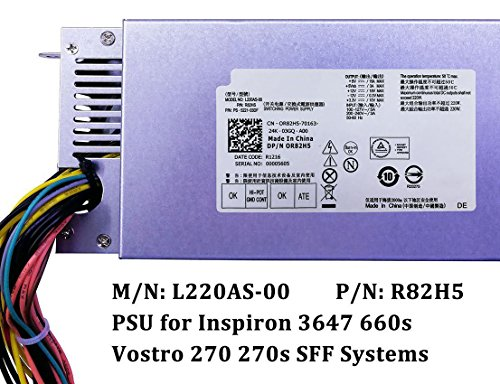 220W R82HS L220AS-00 CPB09-D220R Power Supply for Dell Inspiron 3647 660s Vostro 270s Gateway SX2300 Acer X1420 X3400 Aspire X1200 X1300 eMachines L1200 L1210 L1300 L1320 L1700 Series by IMSurQltyPrise (Image #2)