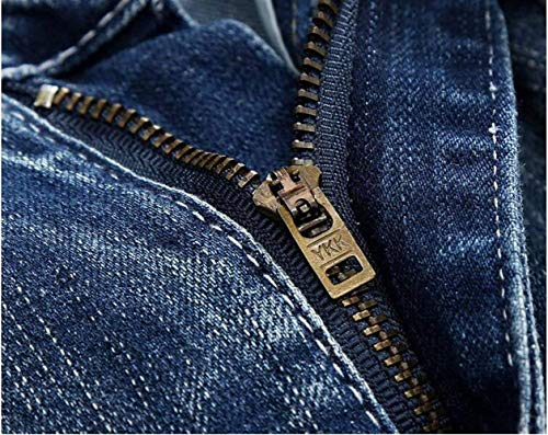 Autopromozione Cotone Cher T Ragazzi Tide Da Pantaloni Cowboy Denim Uomo Alla Jeans In Marchio Moda Ssig Marca Reality Blau Classiche Originali Dritto Fori Classico PIa8pfqw