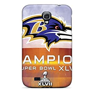 Durable Defender Case For Galaxy S4 Tpu Cover(baltimore Ravens)