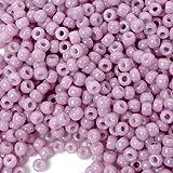 11/0 Fine Japanese TOHO Seed Glass Round Beads - Opaque-Lustered Pale Mauve 15g