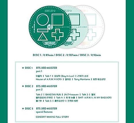 BANGTAN BOYS BTS 3rd MUSTER [ARMY ZIP+] DVD+Photobook+Photocard+Pre-Order  Gift+Extra Photocards Set