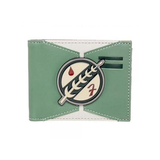 Star Wars Boba Fett Mandalorian Symbol Bi Fold Wallet Wgift Box By