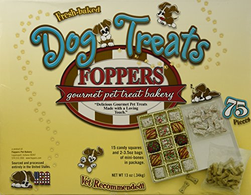 - Foppers Gourmet Dog Treat Box (75 Pieces)