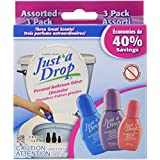 Just a Drop Personal Bathroom Odor Eliminator, Assorted 3 Pack, 36 Milliliter