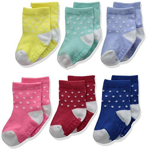 Carters Baby Girls Face Socks Pack