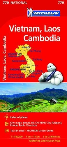 Vietnam Laos Cambodia Map 2017 (Michelin Regional Map)
