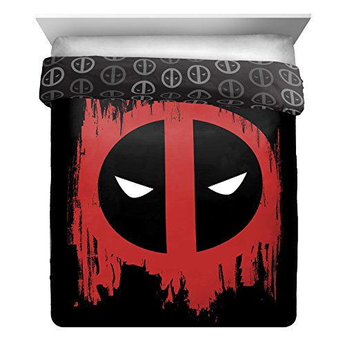 L&M 1 Piece Black Red Marvel Deadpool The Movie Themed Comfo