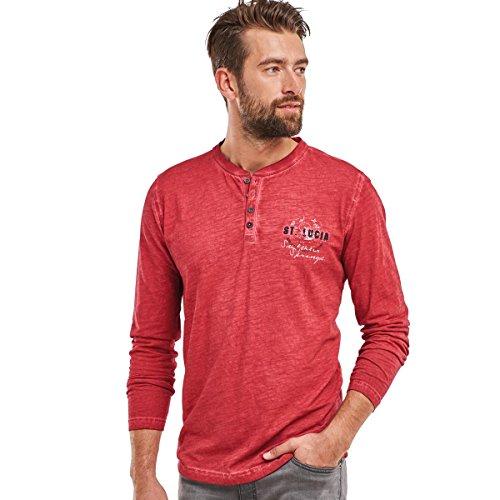 engbers Herren Henley Shirt, 24831, Rot