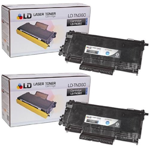 LD Compatible Toner Cartridge Replacement for Brother TN-360 High Yield (Black, -