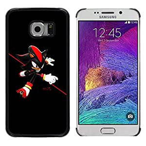 Planetar® ( Red Hedgehog ) Samsung Galaxy S6 EDGE / SM-G925 / SM-G920A / SM-G925T / SM-G925F / SM-G925I Fundas Cover Cubre Hard Case Cover