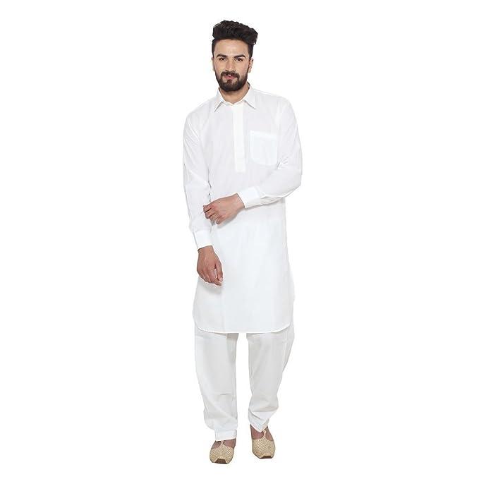 Amazon.com: Ruchi Mart hombre pathani traje Diseñador Blanco ...