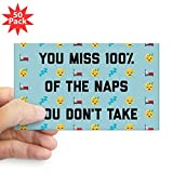 CafePress - You Miss 100% Naps - Sticker (Rectangle 50 pk)