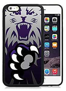 NEW Personalized Customized Iphone 6 Case with NCAA Big Sky Conference Football Weber State Wildcats 6 Protective Cell Phone TPU Cover Case for Iphone 6 Generation 4.7 Inch Black