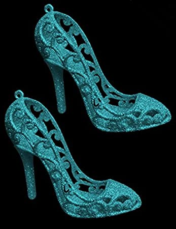 High-heels Christmas Ornament glitter shoe 1 --different color options