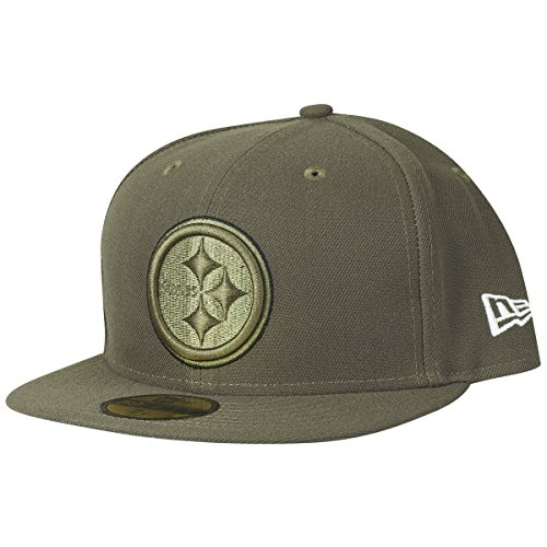 (New Era Pittsburgh Steelers 2017 Salute To Service 59Fifty Fitted Hat - Olive (8))