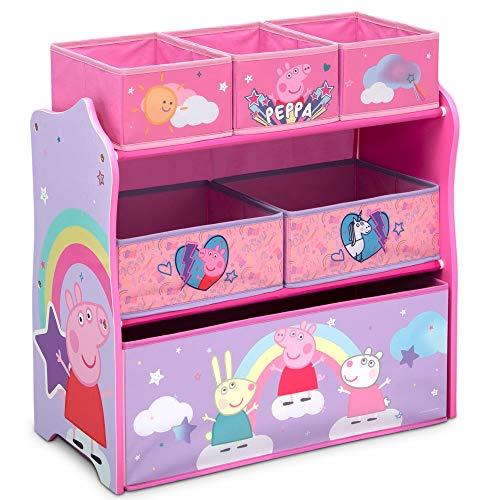 Delta Children Design & Store 6 Bin Toy Storage Organizer Peppa Pig