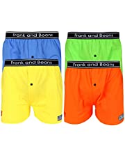 Frank and Beans Underwear Mens Boxer Shorts Mix 4 Pack