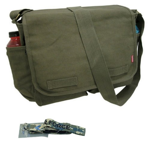 RD Classic Military Messenger Bags with Lanyard (Olive, Airforce - Digi -
