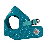 Puppia PARA-HB1529-TE-XS Teal Dotty Harness II B Pet-Vest-Harnesses, X-Small